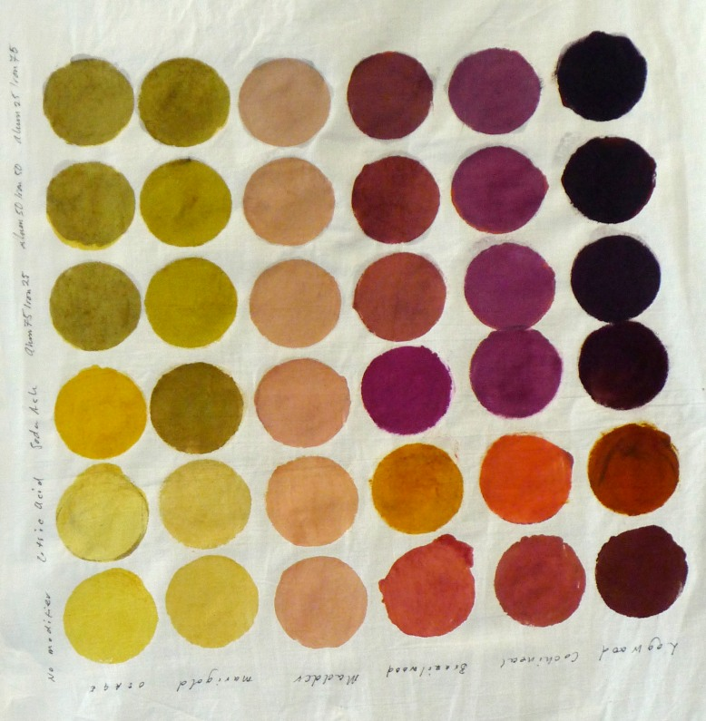 natural dye colour chart